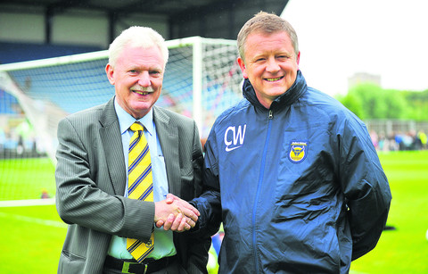 Ian Lenagan and Chris Wilder at Oxford United's open day on Saturday