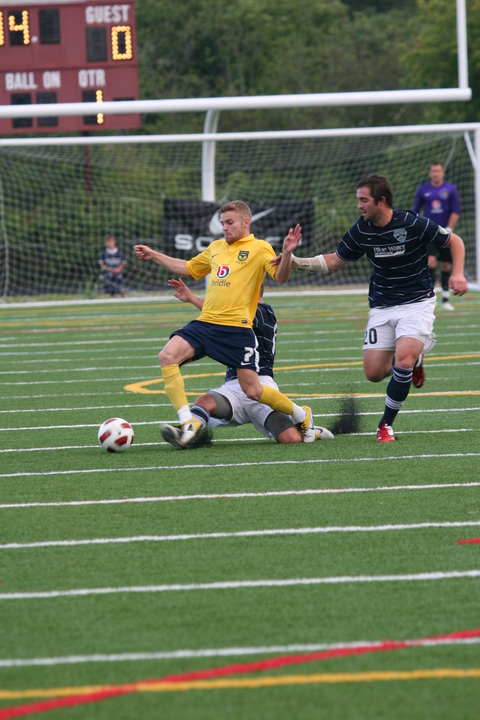 Alfie Potter, seen here in action during Oxford United's friendly draw with Seacoast United Phantoms, wants to score more goals this season after opening his account in the 4-1 victory against a Jim Dedeus Al Star XI on Monday night