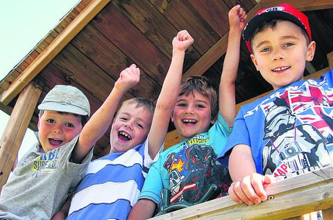 Eddie Hinson, Oliver Braddy, Joshua Barber and Finley Ellis