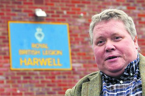 Harwell Royal British Legion club chairman Mark Fysh is leading a drive to recruit more members who have no connection to the forces. Picture: OX53732 Ric Mellis