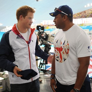 Harry cheers on Paralympic stars