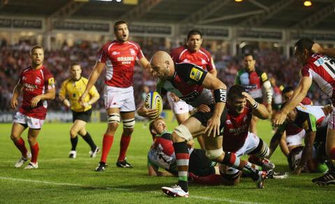 George Robson storms over for Harlequins first try against London Welsh