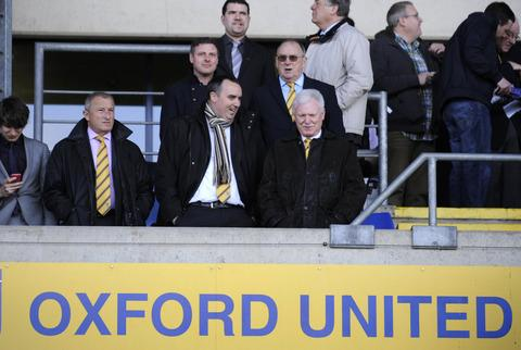 Jim Rosenthal (left) and Kelvin Thomas (centre) have left Oxford United, leaving U's chairman Ian Lenagan (right) and his sons, Simon and Adrian, as the only directors of the club