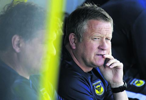Chris Wilder cuts a forlorn figure at Burton on Saturday