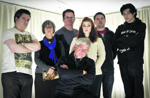 Drama group, left to right, Richard Wilson, Mary Hichens, John Hawkins, Alex Codling, Malcolm Ross, seated front, Terry Atkinson and Zane Desero.