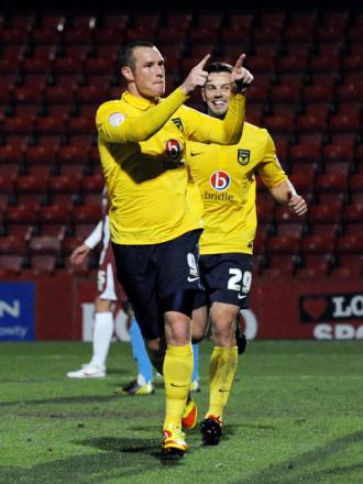 James Constable celebrates with