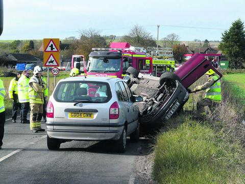 The scene of the crash - picture by Mail reader Nick Brazil