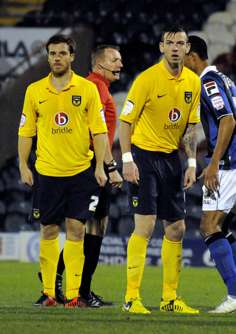 Centre back Michael Raynes (right) was preferred over Johnny Mullins (left) by Oxford United manager Chris Wilder against Dagenham & Redbridge