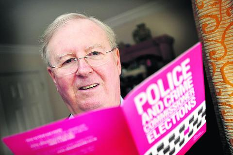 Candidate John Howson with one of the leaflets