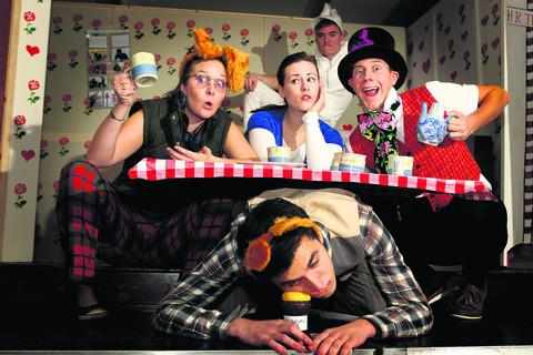 Front: Dean Lamb, centre left to right, Suzy Nutt, Emmy Owen, Adam Elliott and, back, Reece Miller