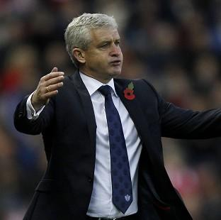 Mark Hughes was frustrated by his team's inability to take their chances at Stoke