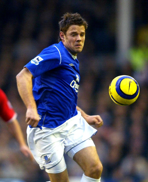 James Beattie, pictured in his Everton days, has joined Accrington Stanley as player-coach