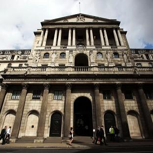 The Bank of England's quarterly inflation report is expected to show a slight contraction in 2012