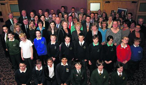 Representatives of 33 Oxfordshire schools and some of their pupils met at the Kassam Stadium to celebrate either retaining their Ofsted grading or improving it