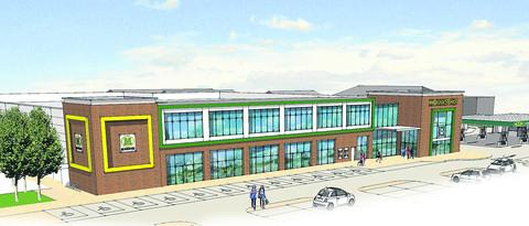 Herald Series: An artist's impression of the proposed new Morrisons store in Wallingford