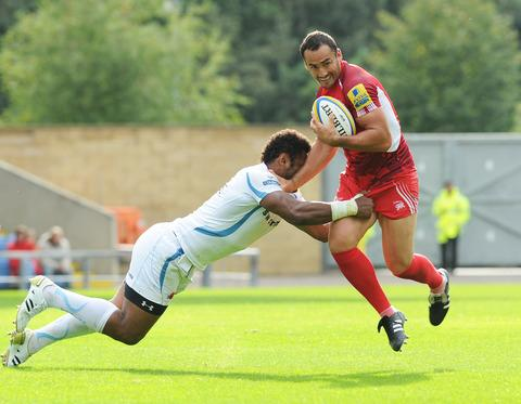 Sonny Parker in action for London Welsh