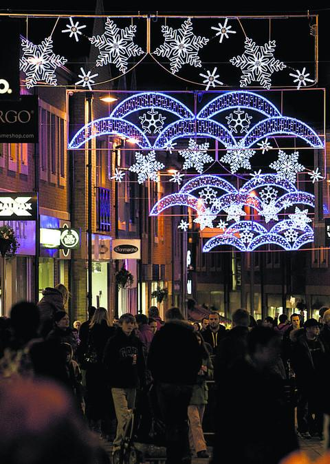 Didcot's Christmas lights last year