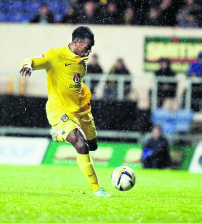 Jon-Paul Pittman blasts home the winning goal in Oxford's 2-1 victory over Northampton
