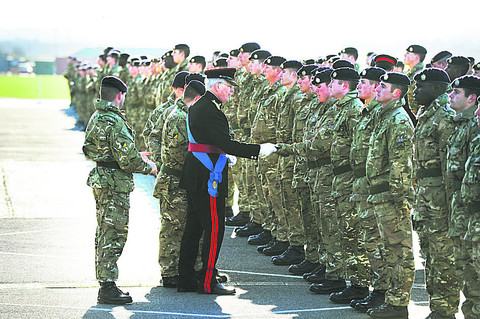 Honours for regiment back from Afghanistan