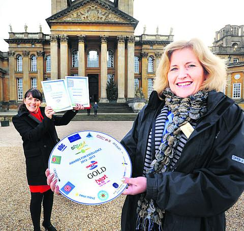 Going green helps Blenheim Palace pick up gold award