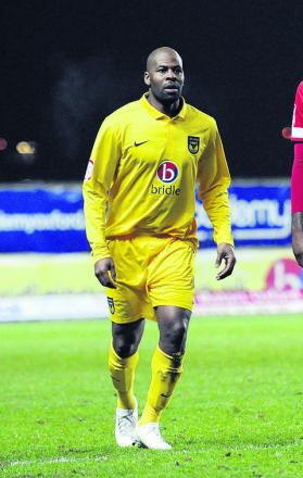 Michael Duberry on his return to the Oxford United side against Accrington on Tuesday nigh