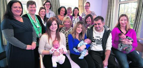 New parents and maternity staff at the re-opened Wantage Community Hospital MLU