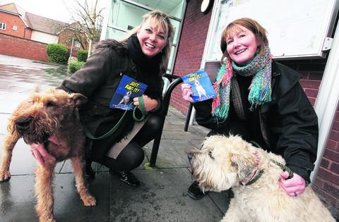 Wantage mayor Charlotte Dickson, left, with her dog Flossie, and Fiona Roper and her dog Raffles