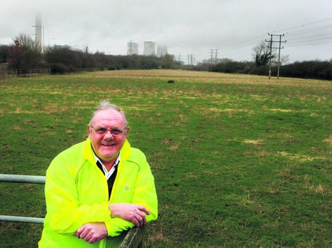 Bill Service next to the fields off Avon Way where a new £15m leisure centre could be built