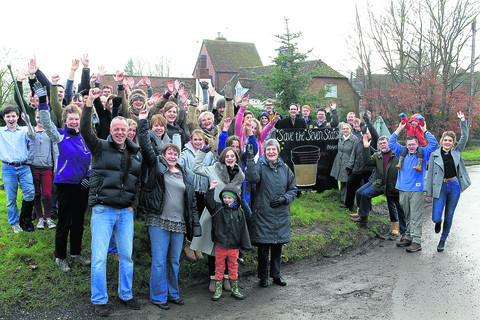 Cheers all round as village pub is saved
