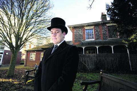 Funeral director James McGee, 25, is due to open Wantage Funeral Service
