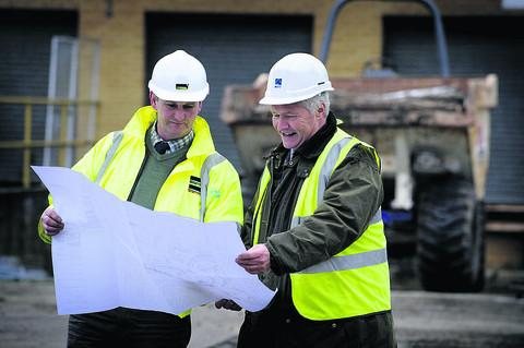 Site manager Jim Baldwin, left, with Peter Mapson