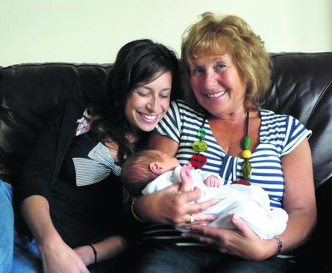 Sharon Berger with daughter Caroline and grandson Ben