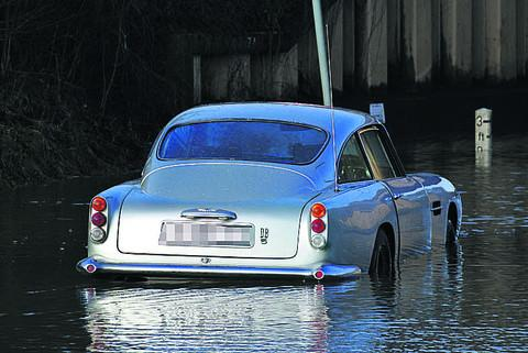 The broken-down Aston Martin DB5