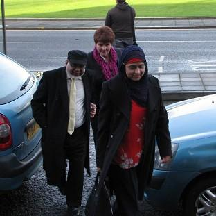 Iqbal and Parveen Siddiqi arriving at Swansea Crown Court