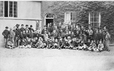 Abingdon School pupils in 1867
