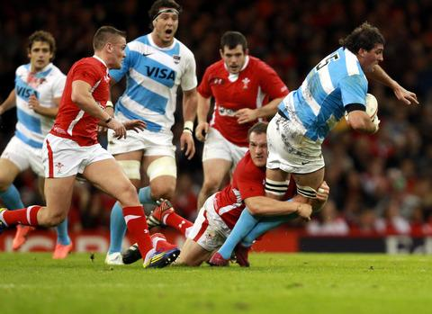 Julio Farias Cabello, seen playing for Argentina against Wales last November, has joined London Welsh