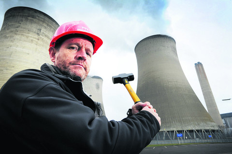 Nick Williamson, of Maylarch Environmental Ltd, in front of Didcot Power Station's cooling towers. Picture: OX57534 Jon Lewis
