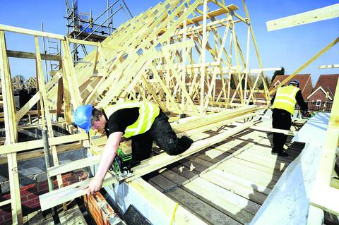 New homes going up at East Hanney
