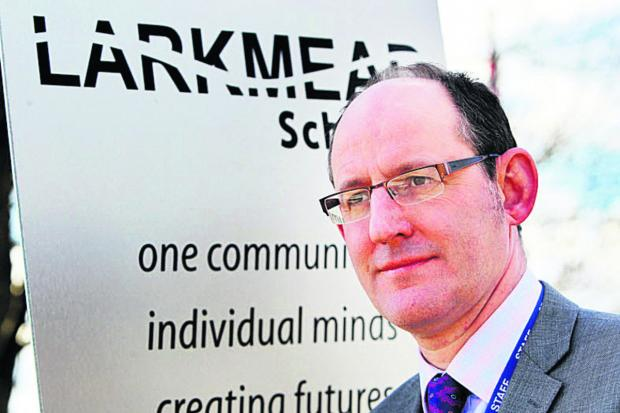 DISAPPOINTED: Headteacher Chris Harris
