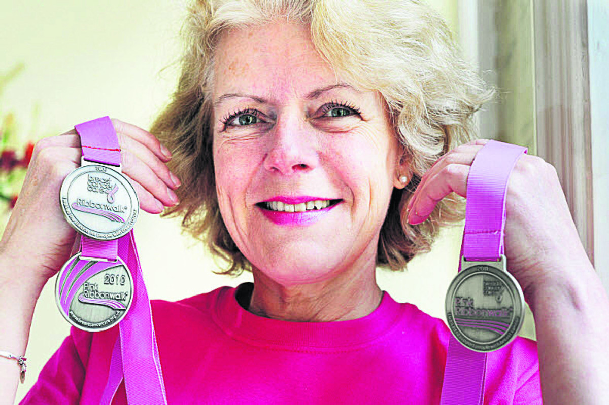 ON THE START LINE: Fiona Molnar will be taking part in her fifth Pink Ribbonwalk