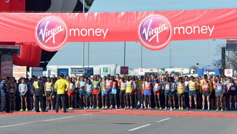 The starting line at the London Marathon