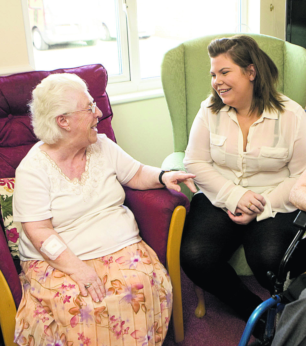 A resident being looked after at an OSJCT care home
