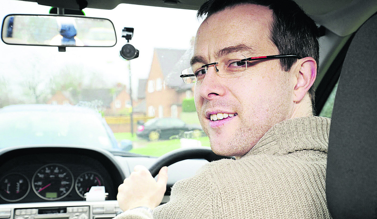 Kieran Thomas of ChilliBongo with one of the dash cams. Picture: OX64340 David Fleming