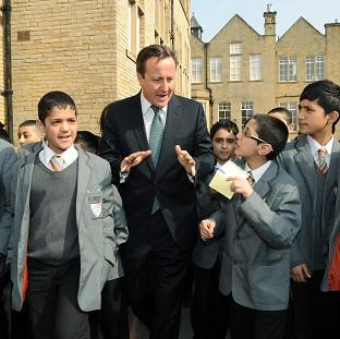 Prime Minister David Cameron visited Kings Science Academy, Bradford, in 2012
