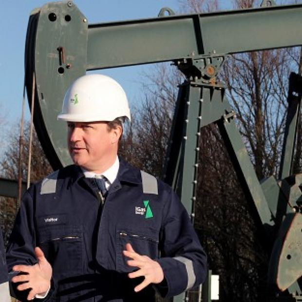 Herald Series: Prime Minister David Cameron visited the IGas shale drilling plant oil depot near Gainsborough, Lincolnshire, on Monday