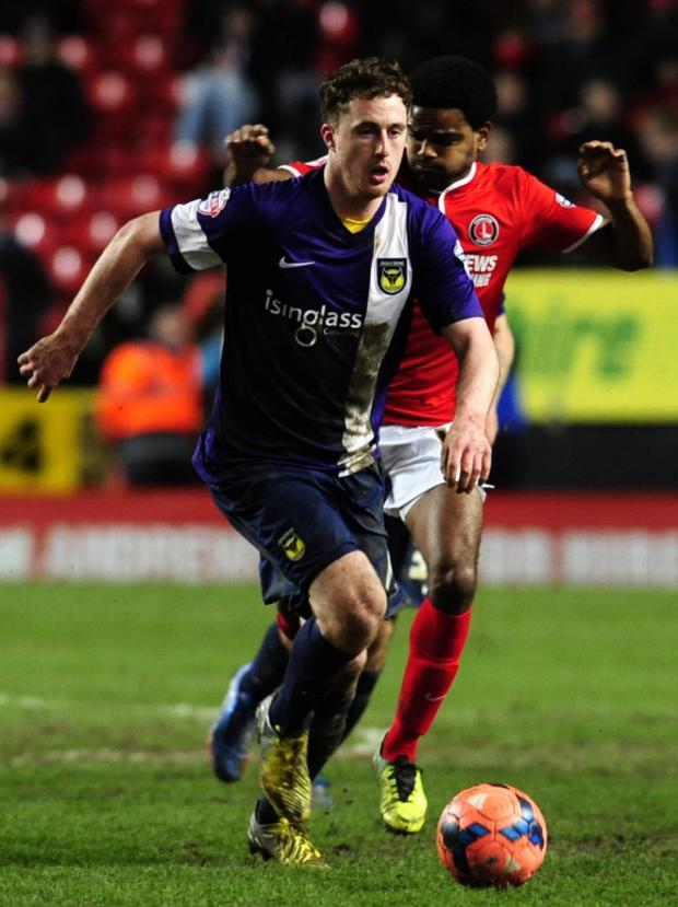 Herald Series: Scott Davies on the charge for United at Charlton
