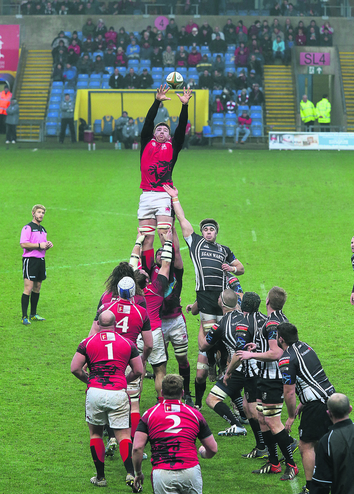 Ollie Stedman, pictured winning a line-out against Pontypridd last weekend, is one of only four London