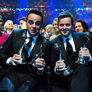 Ant and Dec celebrate with their National Television Awards