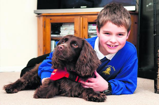 Steven Courtney with his medical detection dog, Molly