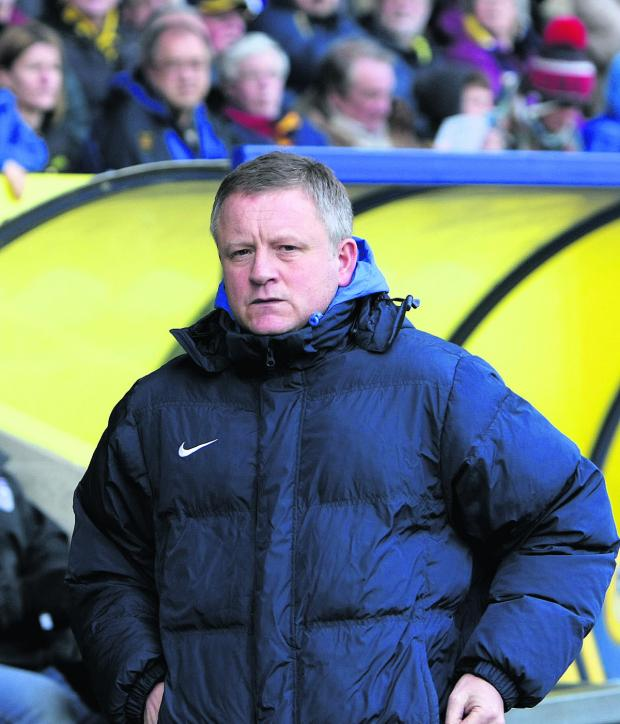 Herald Series: Chris Wilder on the touchline for the last time as Oxford United boss